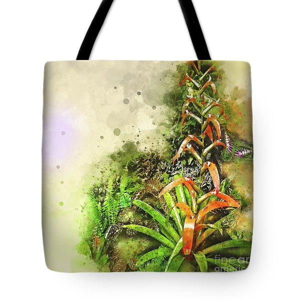 Tropical Orange Tote Bag