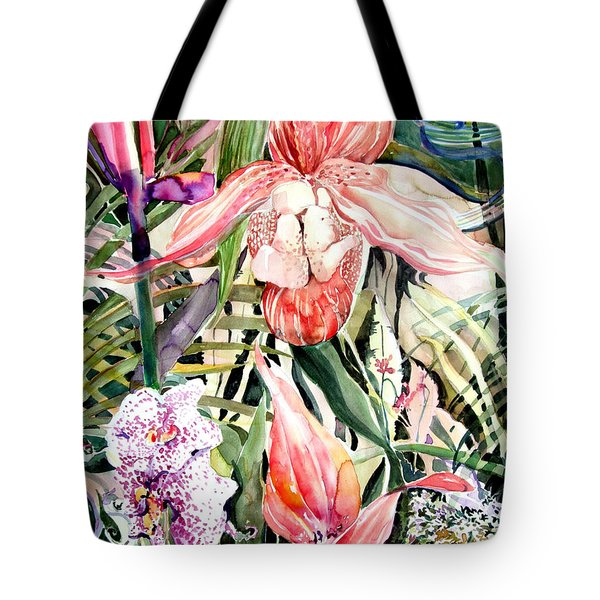 Tropical Orchids Tote Bag by Mindy Newman