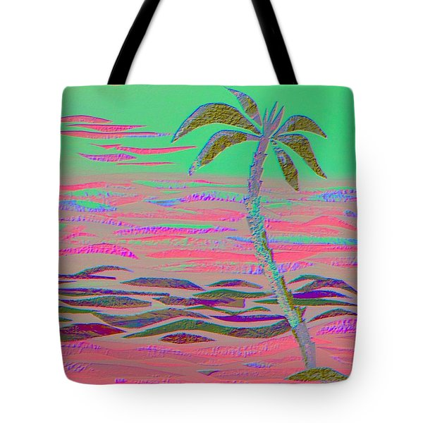 Hot Pink Coconut Palm Tote Bag
