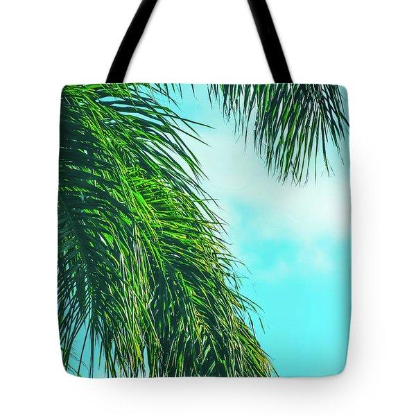 Tropical Palms Maui Hawaii Tote Bag by Sharon Mau