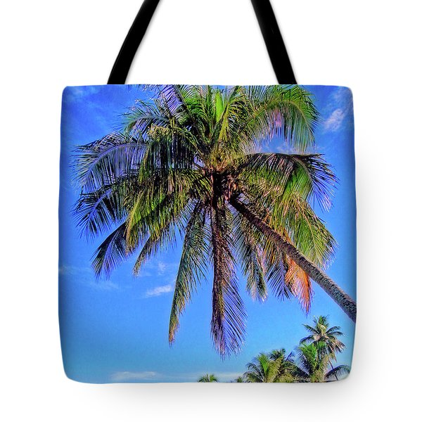 Tropical Palms Tote Bag by Sue Melvin