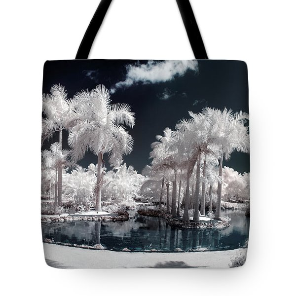 Tropical Paradise Infrared Tote Bag by Adam Romanowicz