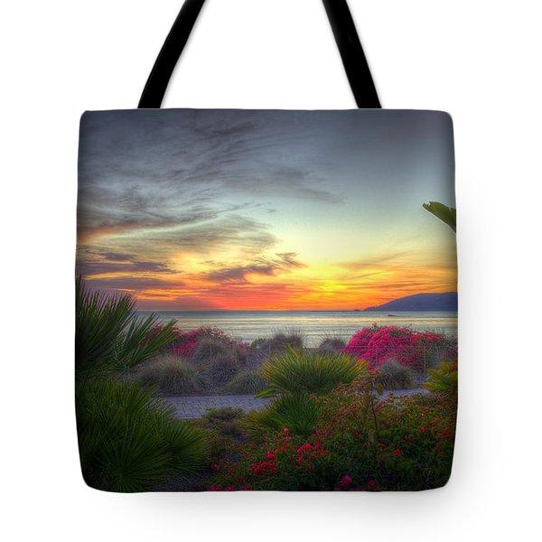 Tropical Paradise Sunset Tote Bag