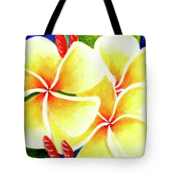 Tropical Plumeria Flowers #226 Tote Bag by Donald k Hall