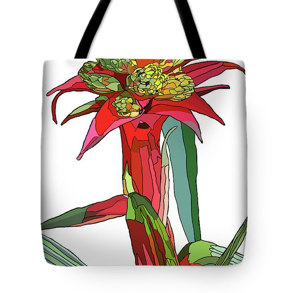 Tropical Reds Tote Bag by Jamie Downs