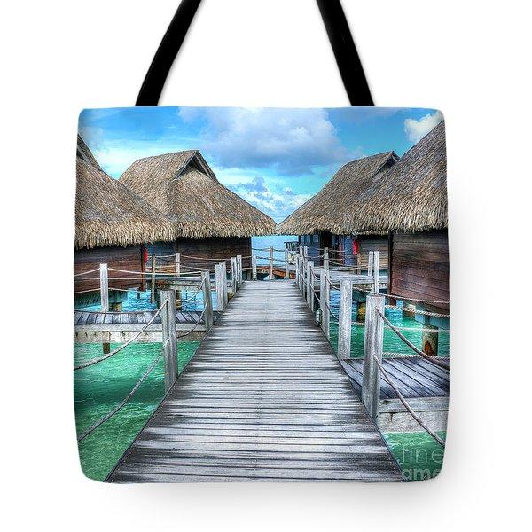 Tropical Resort Paradise Seascape Florida Keys 01 Tote Bag