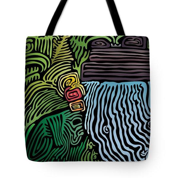 Tropical River Tote Bag