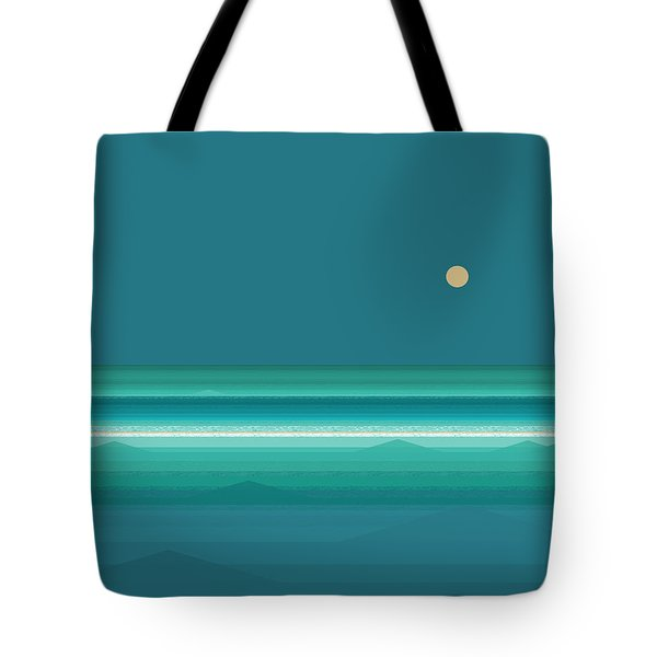 Tote Bag featuring the digital art Tropical Seas by Val Arie