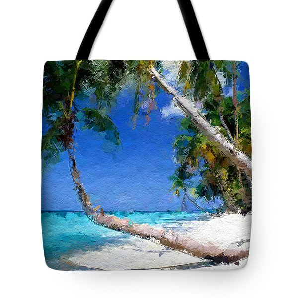 Tropical Seaside Tote Bag