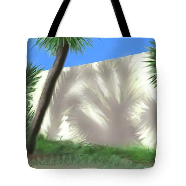 Tropical Shadows Tote Bag
