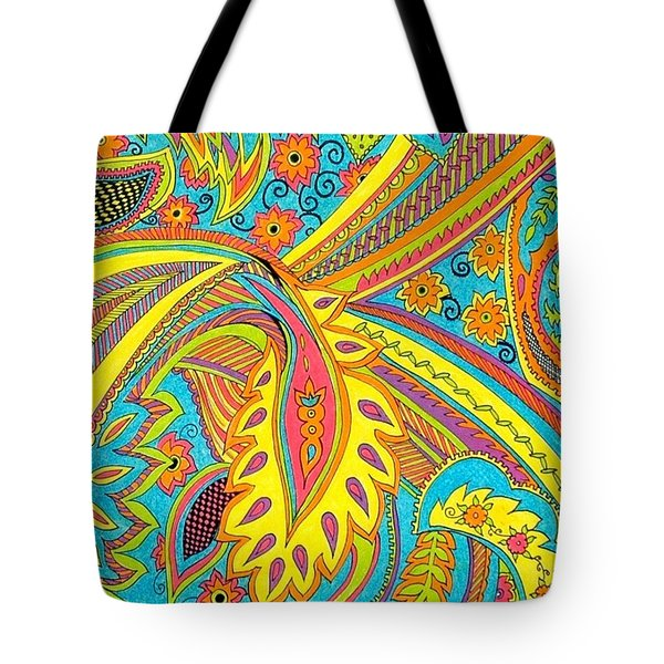 Tropical Sizzle Tote Bag by Ramneek Narang