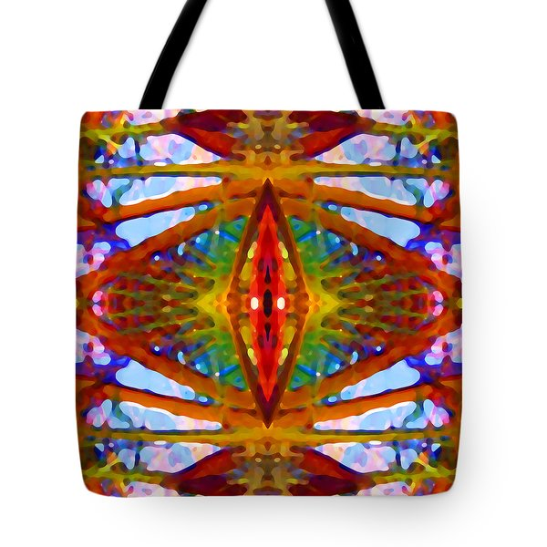 Tropical Stained Glass Tote Bag by Amy Vangsgard