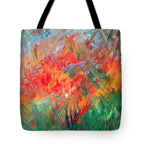 Tropical Stained Glass Tote Bag