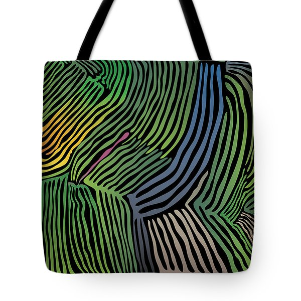 Tropical Striations Tote Bag