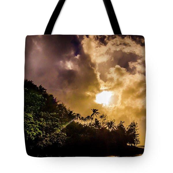 Tropical Sunset Tote Bag
