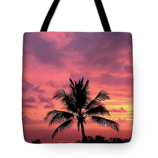 Tropical Sunset Tote Bag by Karen Nicholson