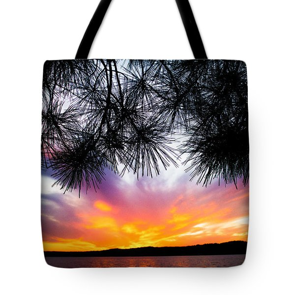 Tropical Sunset  Tote Bag by Parker Cunningham