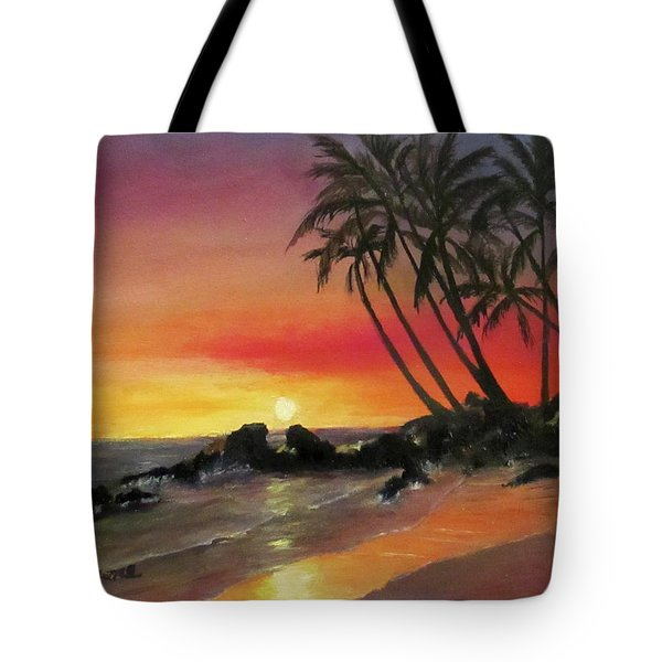 Tropical Sunset Tote Bag by Roseann Gilmore