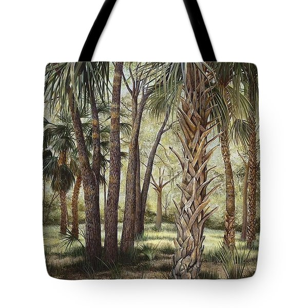 Tropical Trail's End Tote Bag