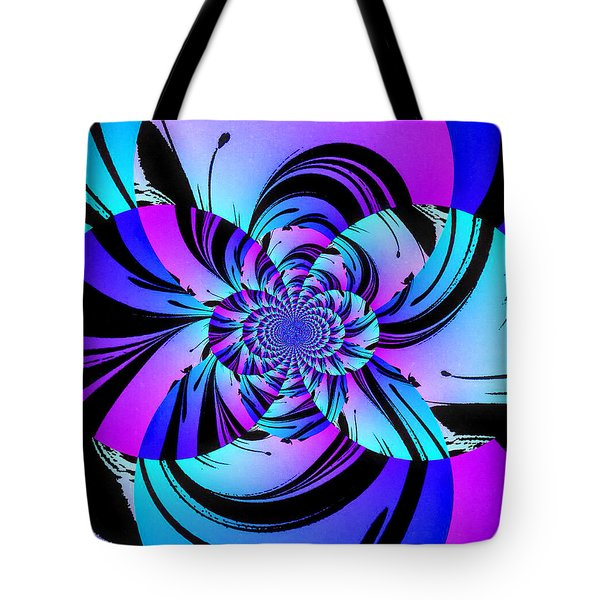 Tote Bag featuring the digital art Tropical Transformation by Kathy Kelly