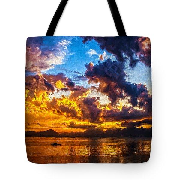 Tropical Twilight I Tote Bag