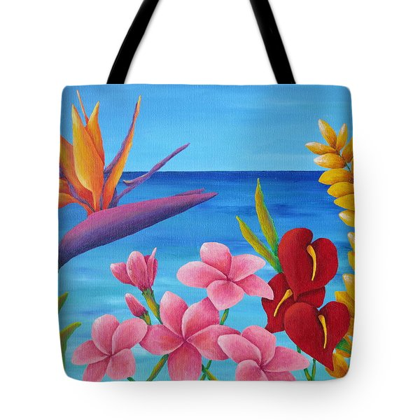 Tropical View Tote Bag by Pamela Allegretto