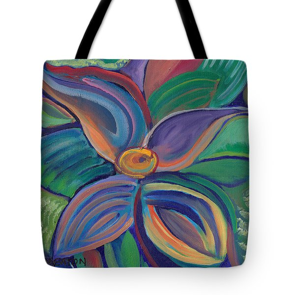 Tote Bag featuring the painting Tropical Vision by John Keaton