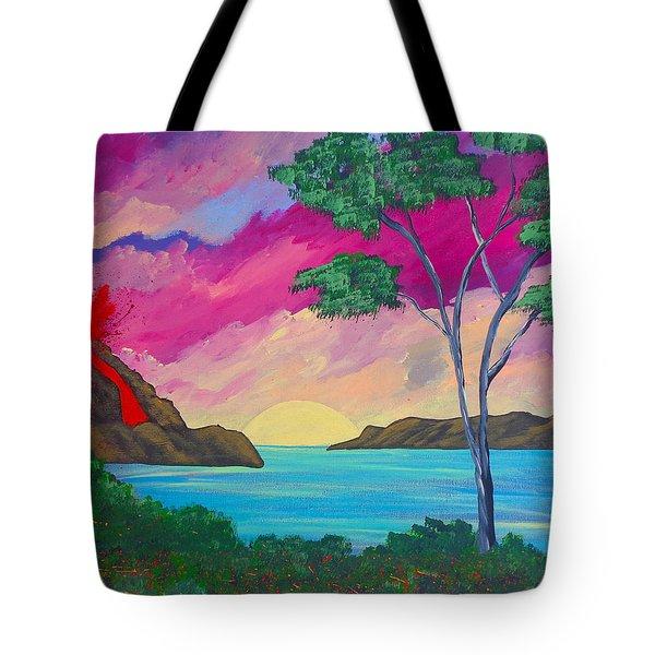 Tropical Volcano Tote Bag