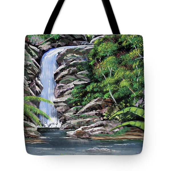 Tropical Waterfall 2 Tote Bag by Luis F Rodriguez