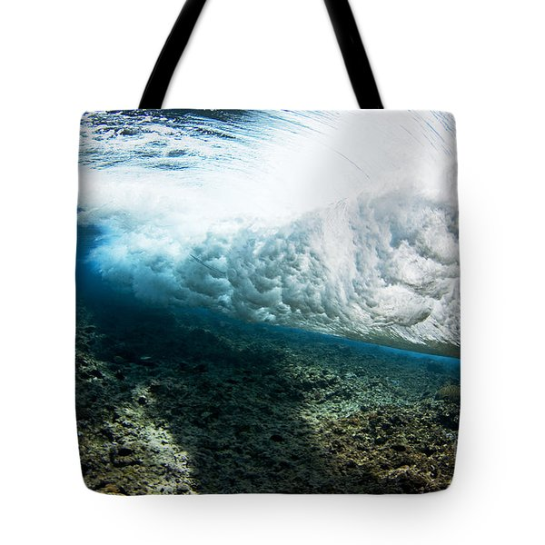 Tropical Wave Curl Tote Bag by Dave Fleetham - Printscapes