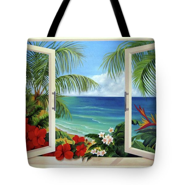 Tropical Window Tote Bag
