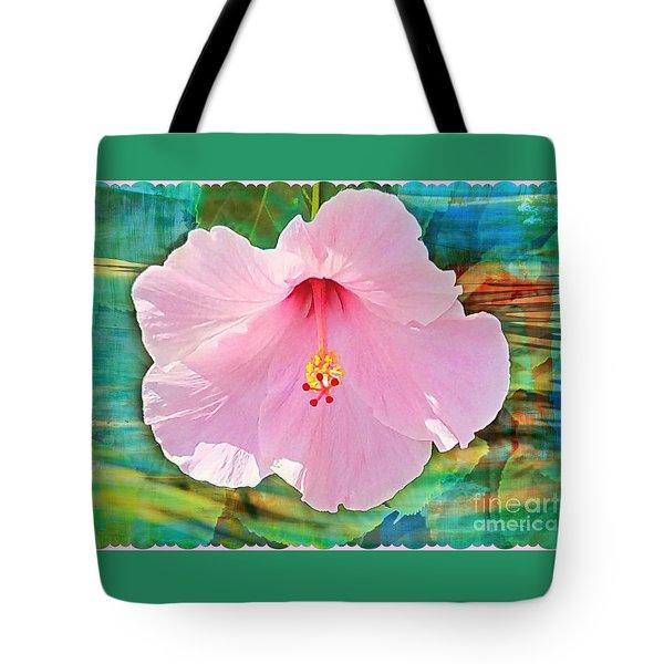 Tropicale Pink Hibiscus Tote Bag