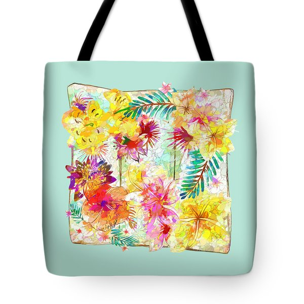 Tote Bag featuring the digital art Tropicana Abstract By Kaye Menner by Kaye Menner