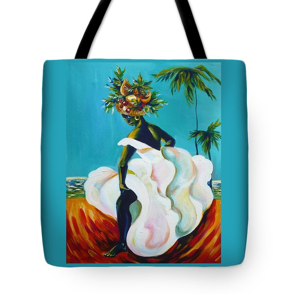 Tote Bag featuring the painting Tropicana by Anna  Duyunova