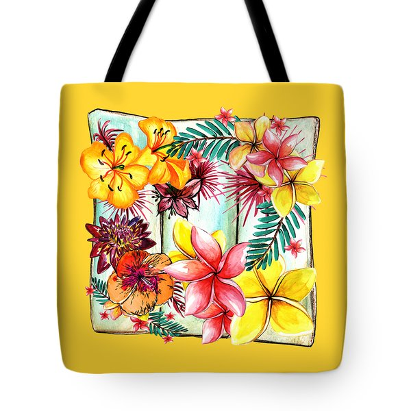Tote Bag featuring the photograph Tropicana By Kaye Menner by Kaye Menner