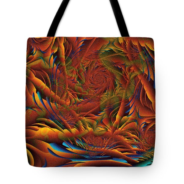 Tote Bag featuring the digital art Tropicana Fantasy by Richard Ortolano