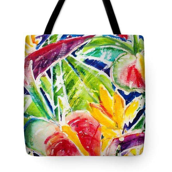 Tropics - Floral Tote Bag by Julie Kerns Schaper - Printscapes