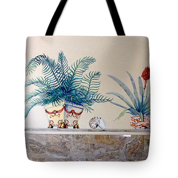 Tote Bag featuring the painting Tropme L'oeil Wall by Thomas Lupari