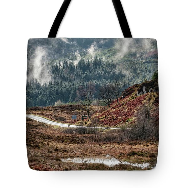 Tote Bag featuring the photograph Trossachs National Park In Scotland by Jeremy Lavender Photography