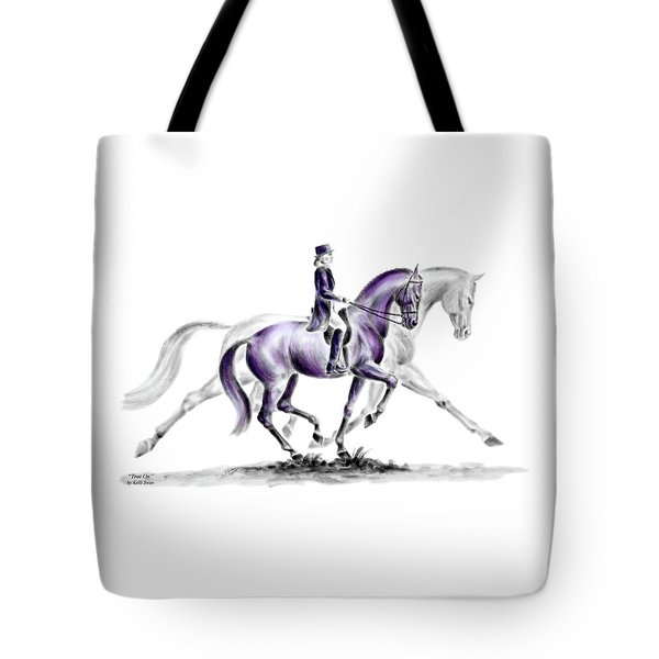 Trot On - Dressage Horse Print Color Tinted Tote Bag