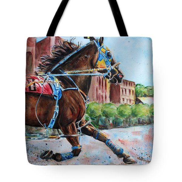 trotter standardbred Horse at the Little Brown Jug Tote Bag