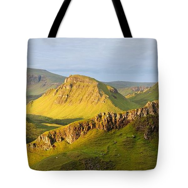 Trotternish Summer Morning Panorama Tote Bag