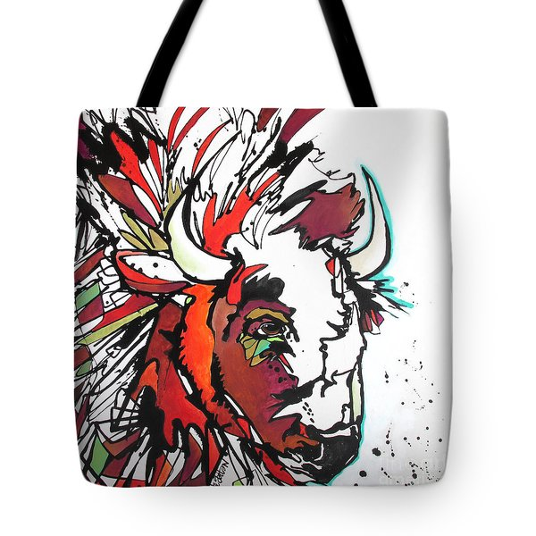 Tote Bag featuring the painting Trouble by Nicole Gaitan