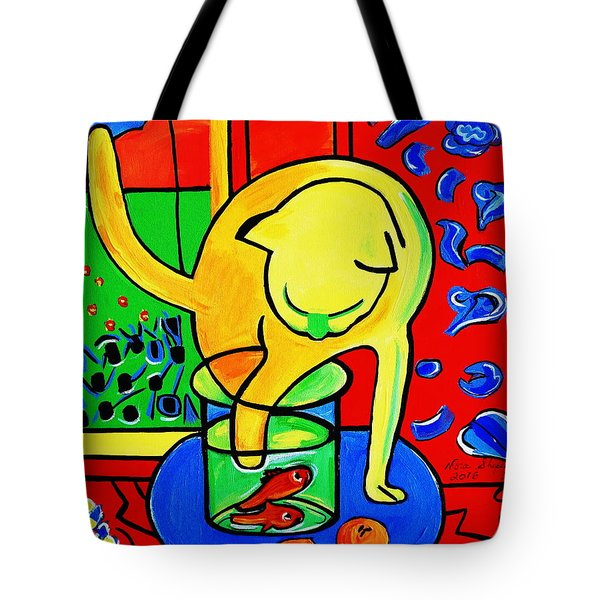 Trouble Tote Bag by Nora Shepley