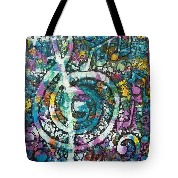 Trouble With Trebles Tote Bag