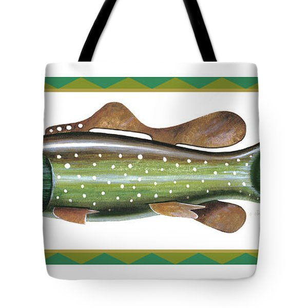 Trout Ice Fishing Decoy Tote Bag