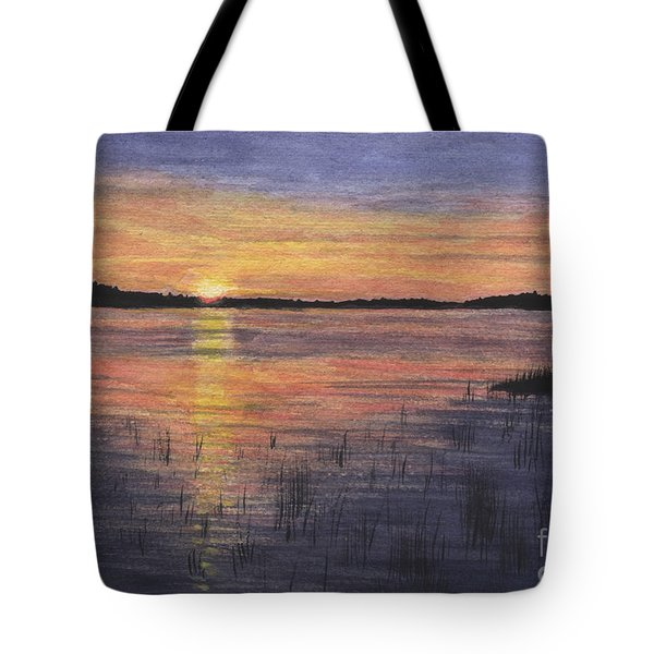 Trout Lake Sunset II Tote Bag
