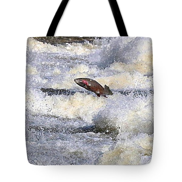Trout Tote Bag by Robert Pearson