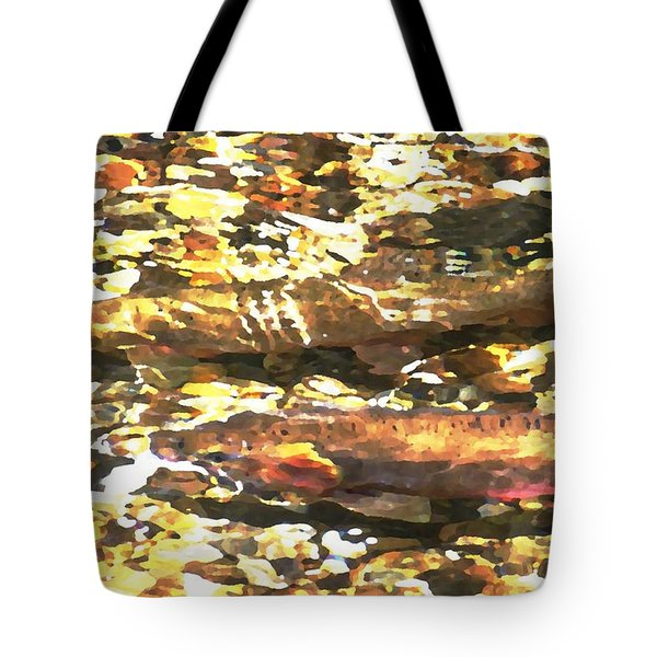 Trout Stream Tote Bag by Greg Hammond