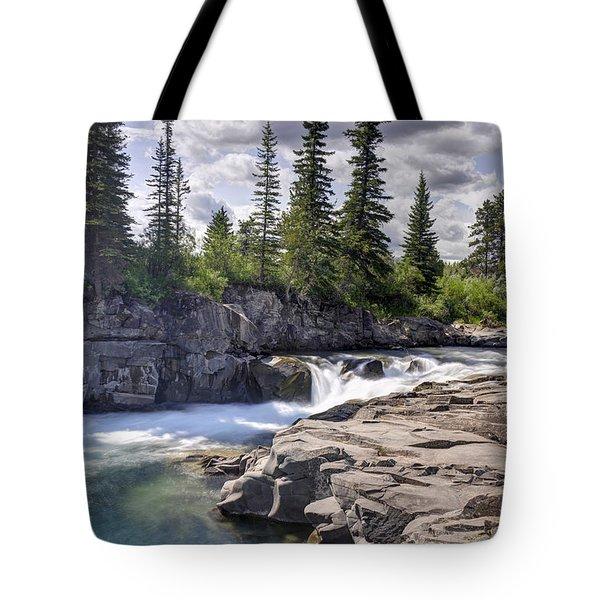 Trout Stream Tote Bag